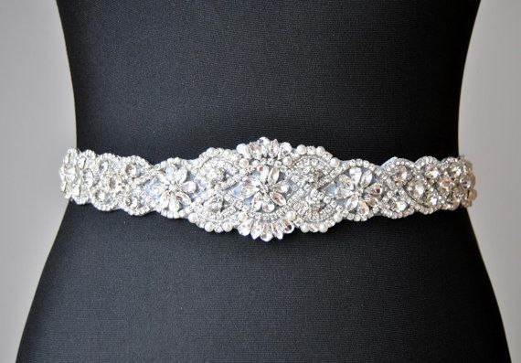 Hey, I found this really awesome Etsy listing at https://www.etsy.com/listing/249086245/sale-34-wedding-dress-sash-belt-luxury