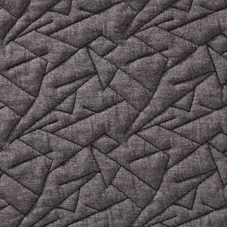 Tissu maille gonflante géométrique gris