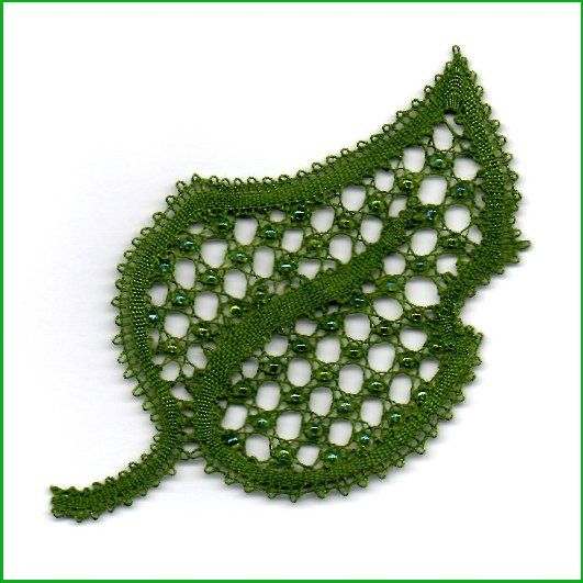 bobbin lace leaf - Google Search