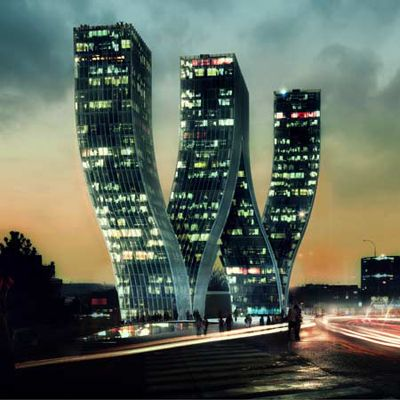 Prague - the W Tower. How cool.