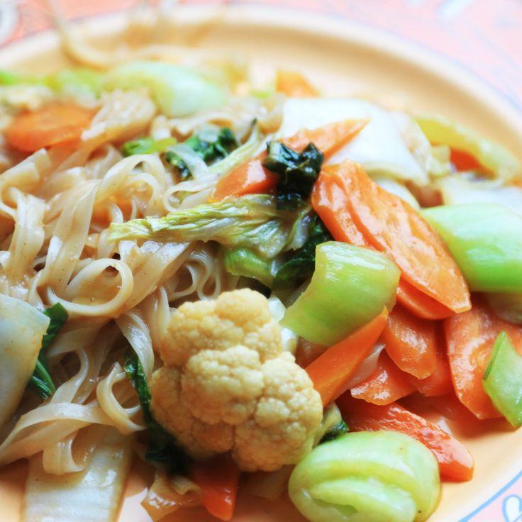 Yasai Udon -  Japanische Nudeln mit Gemüse - Японская лапша с овощами