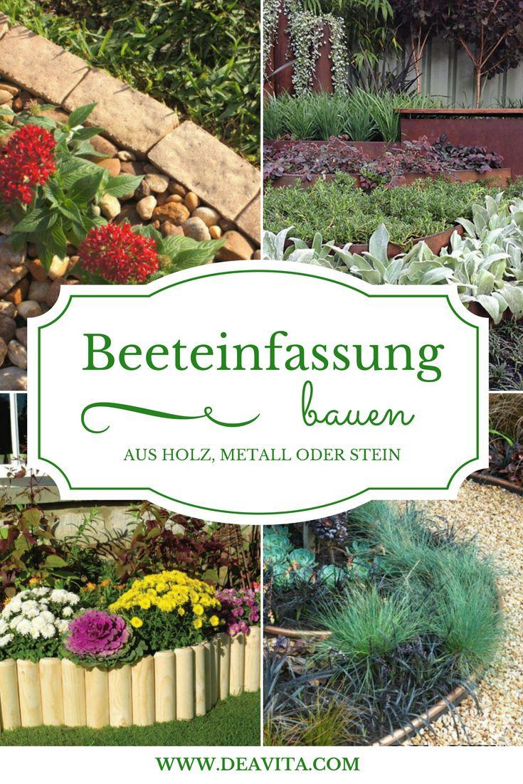25+ Best Ideas About Beetumrandung On Pinterest | Beeteinfassung ... Beeteinfassung Bauen Beetumrandung Holz Metall Stein