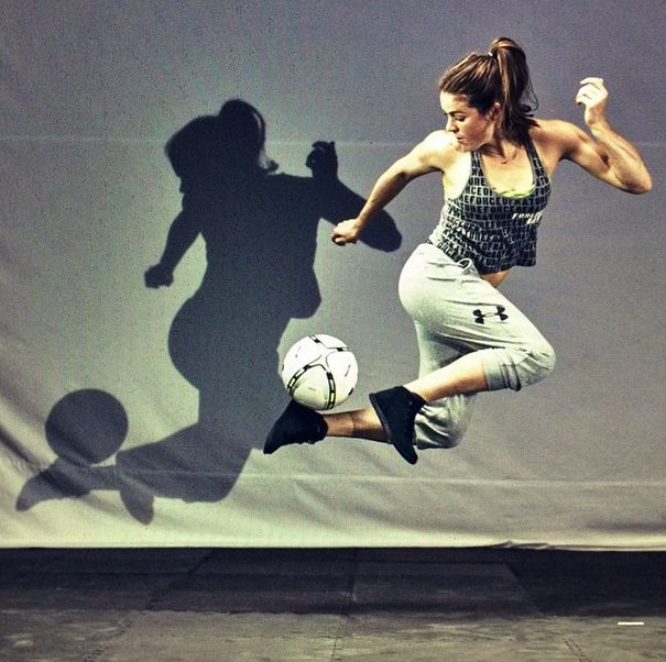 Kelley O'Hara for Under Armour. (Instagram)   USWNT   Usa soccer team, Soccer Players, Football ...