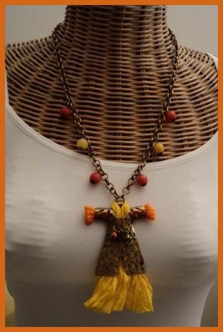 Orange & Yellow Long Caftan Necklace with Silk by FARILYATASARIM on Etsy https://www.etsy.com/listing/63620087/orange-yellow-long-caftan-necklace-with