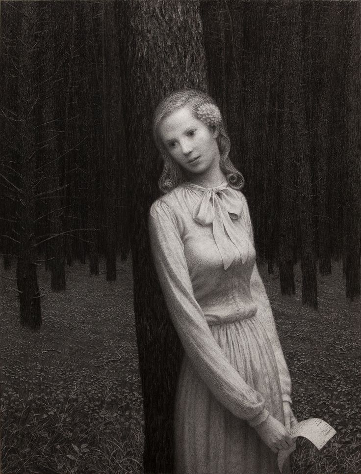 Aron Wiesenfeld -  <strong>Eleanor</strong> (2016<strong style = 'color:#E45922'></strong>)<bR /> charcoal on paper, 50 x 38 inches, (127 x 96.52 cm), framed: 68 x 56 inches, (172.72 x 142.24 cm)