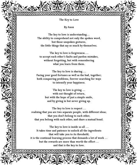 Wedding Quotes Picture Description Poem By Anon Great Reading For A Ceremony
