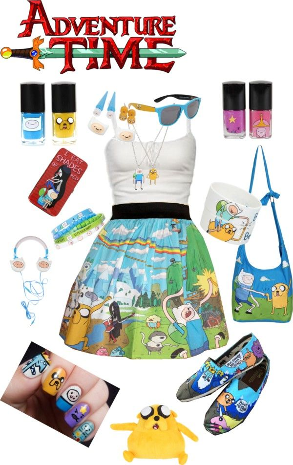 """Adventure Time- Dedicated to my brother!!!!"" by milzie66 ❤ liked on Polyvore"