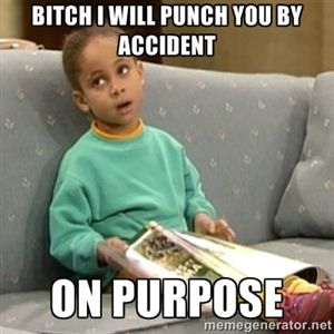 Bitch I will punch you by accident on purpose | Olivia Cosby Show