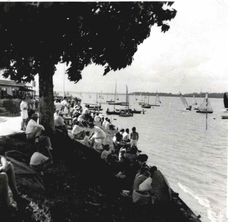 RAF Changi Yacht Club With Spectators Watching A Race
