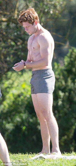James Norton and Robson Green strip off to film ITV's Grantchester #dailymail