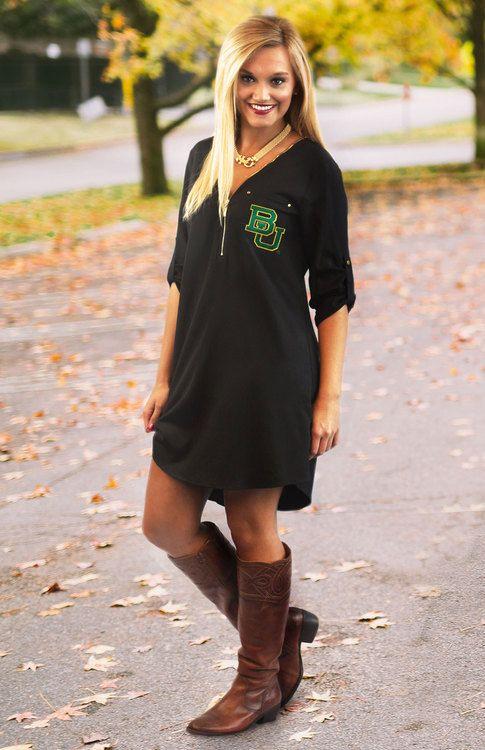 Gameday Couture Baylor BU black dress