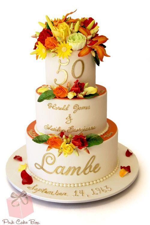 50th Wedding Anniversary Cake 187 Celebration Cakes