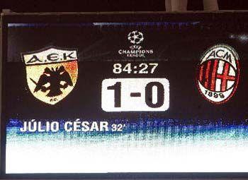AEK Athens - AC Milan 1-0 Uefa Champions League 2006