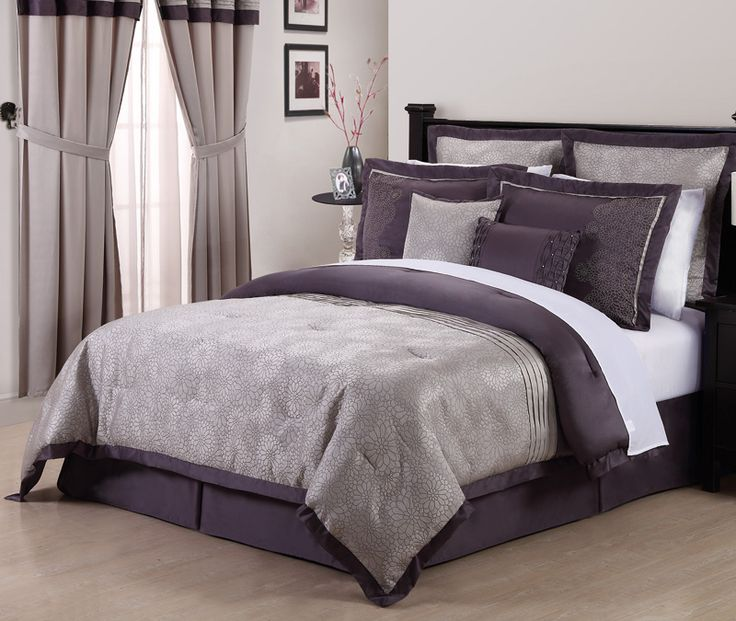 Best 25  Purple comforter ideas on Pinterest   Purple bed  Purple bedding  and Plum bedroom. Best 25  Purple comforter ideas on Pinterest   Purple bed  Purple