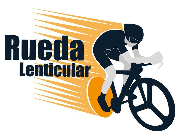 Logotipo para web de ciclismo Rueda Lenticular.