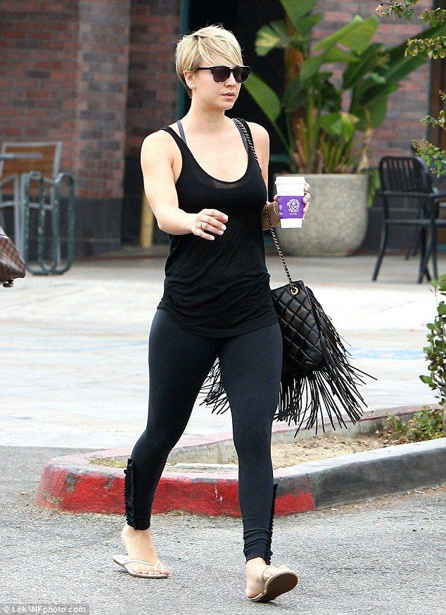 elizabethswardrobe: Kaley Cuoco with a Chanel bag in LA ...