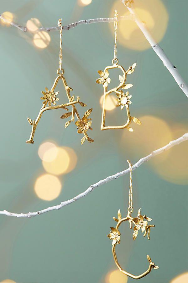Monogram leaf ornament
