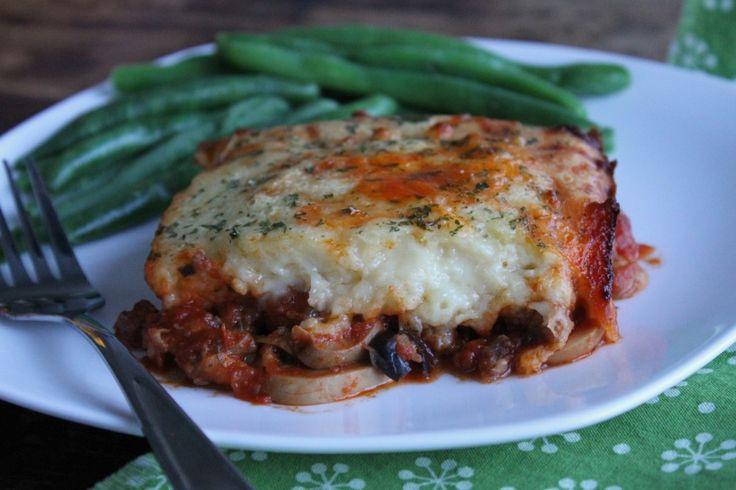Upside-Down Sausage & Mushroom Pizza Casserole
