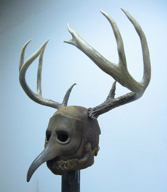 Iron And Antler Fantasy Helmet By Roll4damage On Etsy