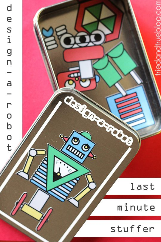 Design-A-Robot Christmas Stocking Stuffer - Super easy last minute gift!