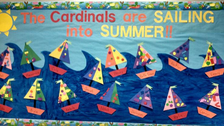 Preschool summer bulletin board