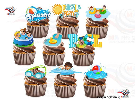 Best 25 swim party cupcakes ideas on pinterest pool - Swimming pool supply stores near me ...