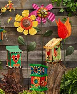 """Gather Friends"" Birdhouse by Painted Peace · Quirks of Art · Online Store Powered by Storenvy"