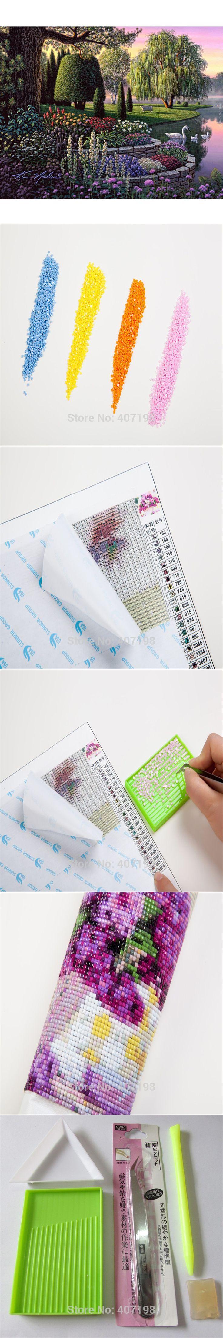 4b92a93ff21 Diy 3D Diamond painting Mosaic Diamond Embroidery cross stitch pattern Full  square Needlework Crafts Spring scenic Home decor. Cruz De DiamantesPatrones  ...