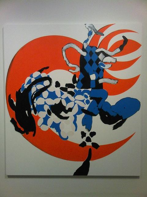 Charline von Heyl  Phoenix, 2008  Acrylic on linen    Institute of Contemporary Art  University of Pennsylvania