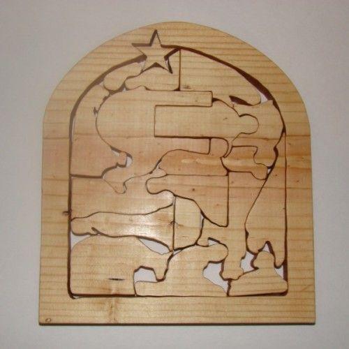 Nativity puzzle pattern wooden nativity scene pattern for Nativity cut out patterns wood
