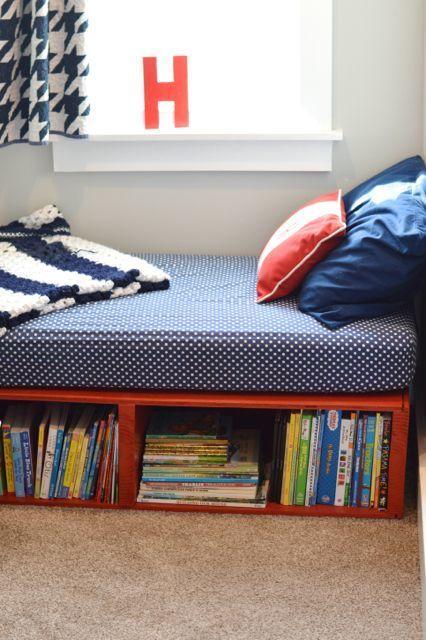 Книжные полки под кроватью. .