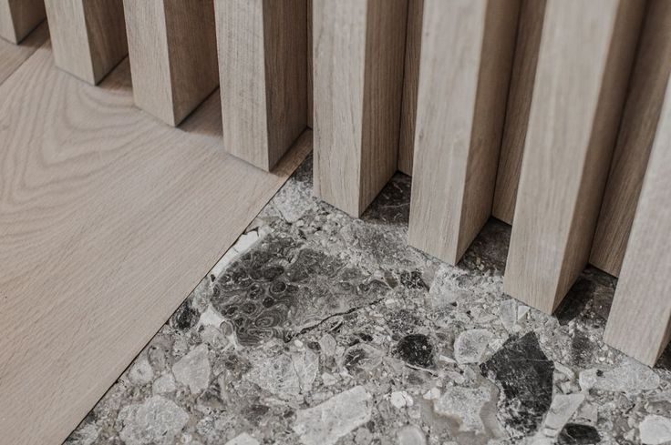 mid toned wood with Ceppo Di Gre stone || PENTHOUSE V