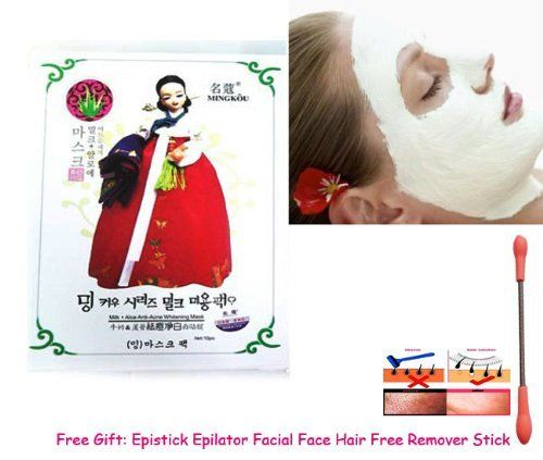 2in1 Face & Body Mask. Mingkou Milk + Aloe Anti- Acne Nano Whitening + Reduce Freckles + Remove Dark Spot Within 5 Minute. Pearl Powder Mask 500g. (Free Gift: Epistick Epilator Facial Face Hair Free Remover Stick) by Mingkou Skincare & Cosmetics.. $45.00. Whitening + Reduce Freckle + Remove Dark Spot Within 5 Minute.. Free Gift: Epistick Epilator Facial Face Hair Free Remover Stick and Get gift offer please read on our JSP24 Online Market Store Policy page./JSP24 On...