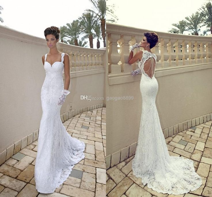 Wholesale Mermaid Wedding Dresses - Buy Charming 2014 Hot Backless Lace Sexy Mermaid Sheath Wedding Dresses Noble Evening Bridal Gowns Christmas 2013 High Quality, $158.9   DHgate