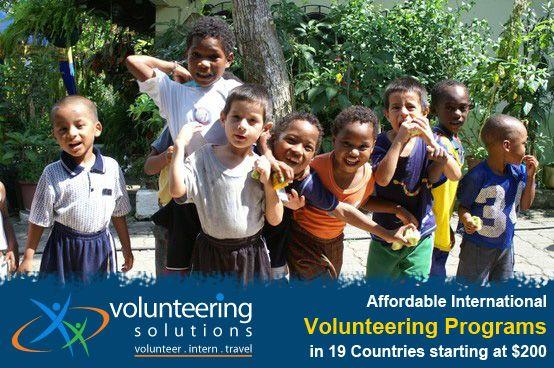 Be a part of over 5000 volunteers who have volunteered with Volunteering Solutions, which provides affordable Volunteer and Intern Abroad programs in 19 countries starting $200!