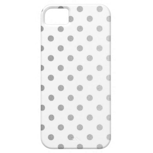 Silver Polka Dots Pattern | Apple iPhone 5 Case