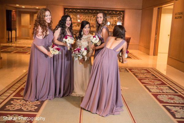 Cheerful indian bride with bridesmaids capture http://www.maharaniweddings.com/gallery/photo/127088