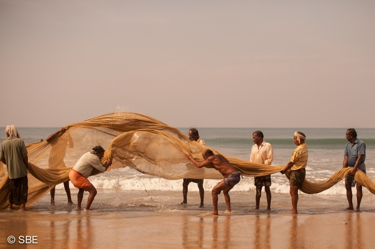 Fishermen, Kerala, India.