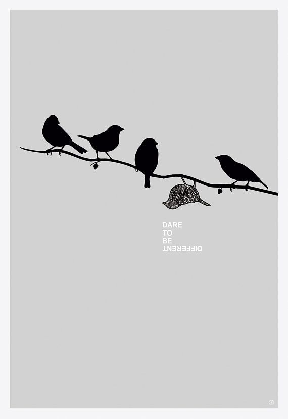 Dare To Be Different Quotes : different, quotes, Different, Poster, Motivational, Minimalist, Poster,