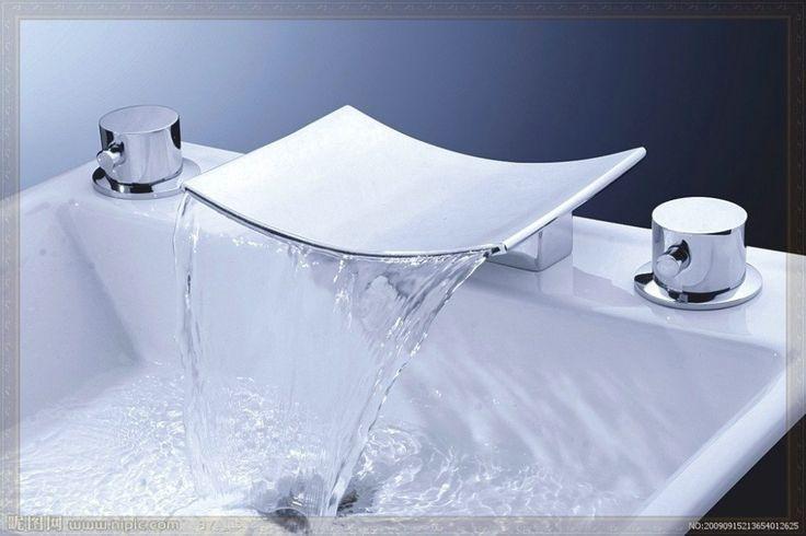Купить товарВанной кран Torneira 3 шт. бортике водопад Bathrooom бассейна 13C хром двойные ручки смесители для раковины, смесители и краны в категории Смесители для ванной и душана AliExpress.            &