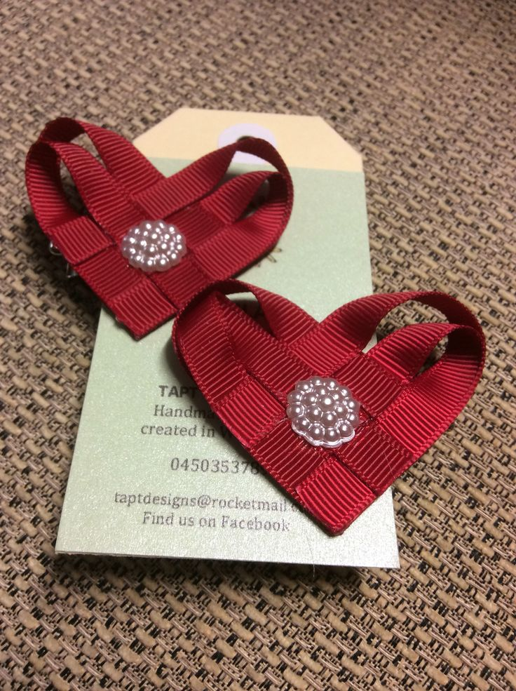 Ruby red ❤️❤️ hair bows