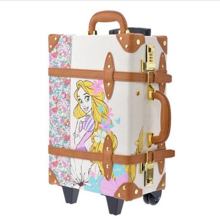 Disney Store Trolley Happily ever after Rapunzel carry bag suitcase Kawaii Japan #Disney