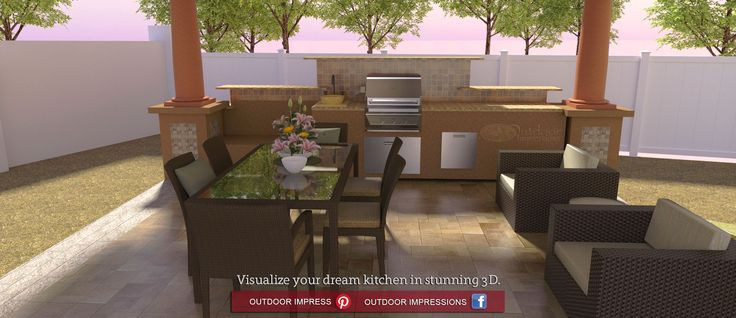 1000 images about creative 3d designs and renderings on for Outdoor kitchen design tool