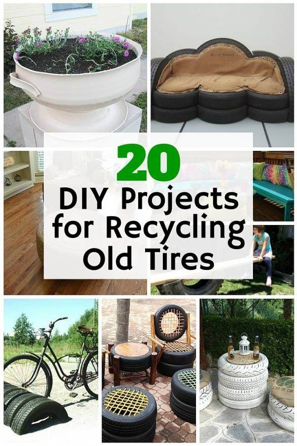 20 Diy Projects For Recycling Old Tires Repurposed Tires Diy Projects Upcycle Diy Projects Old Tires