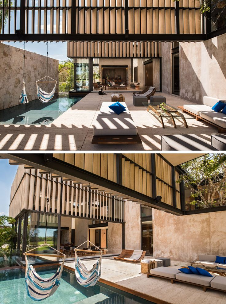 Architecture firm tescala have designed this modern house in Merida, Mexico, named Casa Chaaltun, that features plenty of space for entertaining.