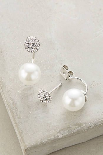 Swept Pearl Earrings