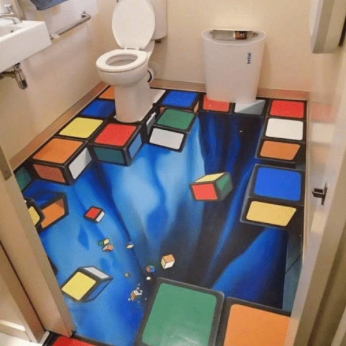 Imagine being drunk as fuck walking into this bathroom