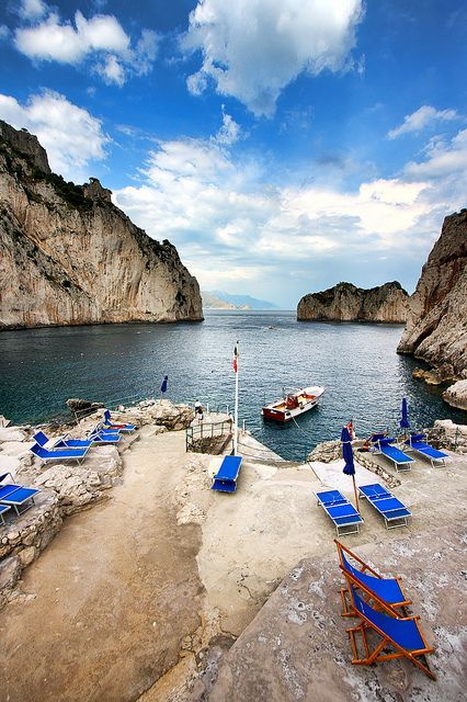 Hands-down most memorable spot for a swim at the base of I Faraglioni, Capri. Not to be missed!!