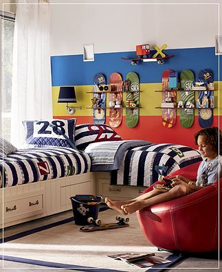 childrens rooms decorating organizing tips ideas for boys bedroomsboys - Skater Bedroom Ideas