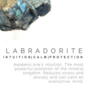 LABRADORITE stone meaning, crystal guide, volerra